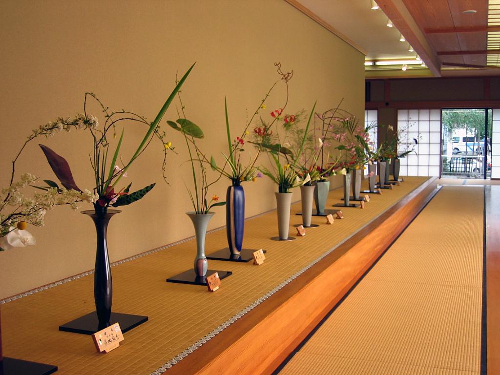 Конкурс икебаны в Киото